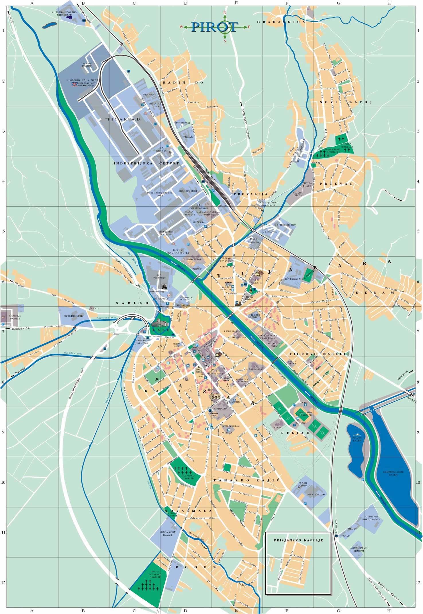 mapa pirota Град Пирот   Почетна mapa pirota